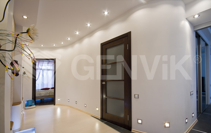 Натяжные потолки со светодиодами, светодиодной подсветкой и лентой