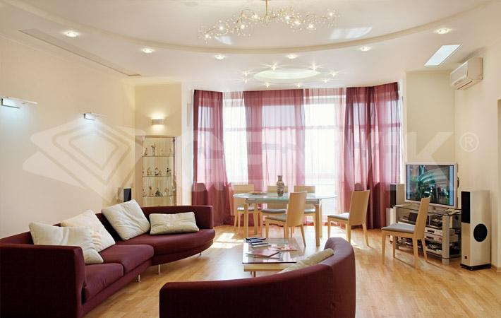 Дизайн навесных потолков фото для зала